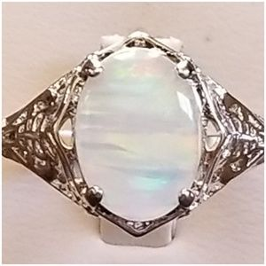 Jewelry - White Fire Opal Ring Size 11
